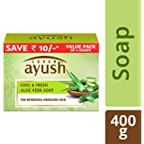 Lever Ayush Cool and Fresh Aloe Vera Soap, 100 g (Pack of 4)