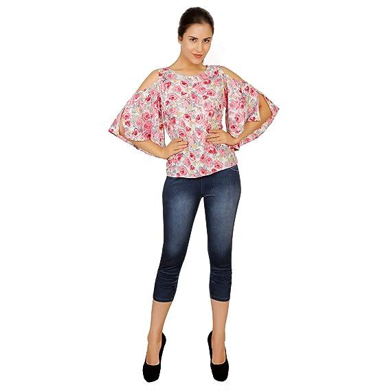 Salvisa Collections Women S Crepe Top Western Tank Tops Tops Vero Moda Tops For Girls Western Crop Tops Design For Girls Amazon In Clothing Accessories