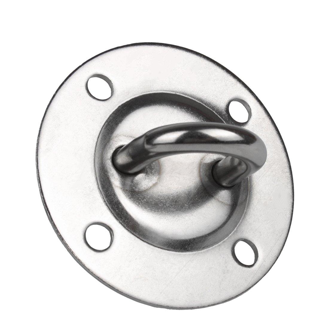 Montagefertiger unbehandelter Eiche Handlauf Enden:Edelstahlbogen /Ø 42 mm mit gewinkelte Edelstahlhalter und Endst/ücken auch f/ür au/ßen geeignet L/änge: 2200 mm mit 3 Halter