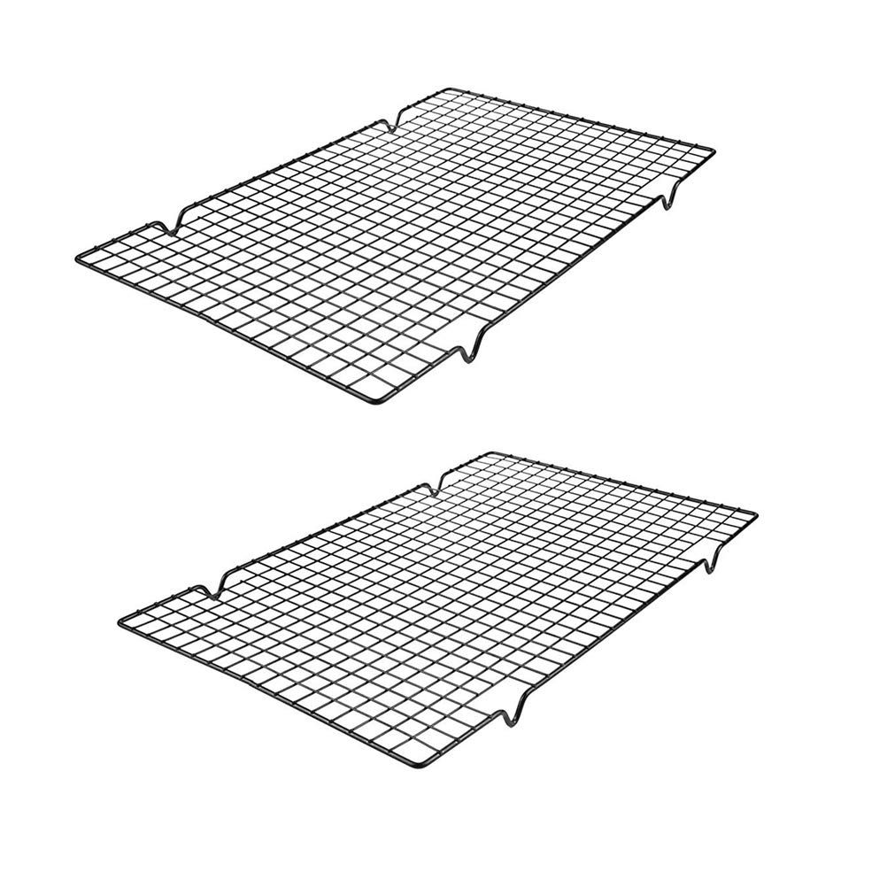 Non-Stick Cooling Racks for Baking Fits Half Sheet Cookie Pan(Oven Safe,set of 2)