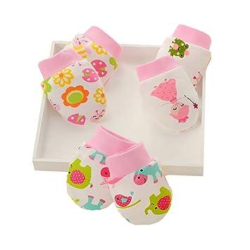 3 paires de moufles pour bébé (garçon ou fille) - Cadeau pour nouveau né 418b6cb6798