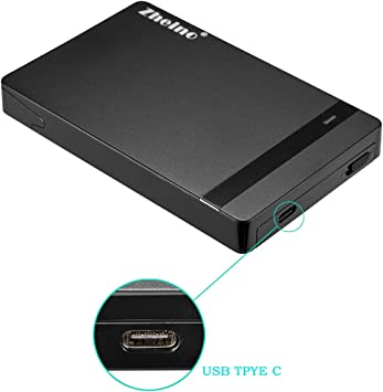 Zheino USB 3.1 Gen1 Tipo C USB C Caja Carcasa Para 2.5