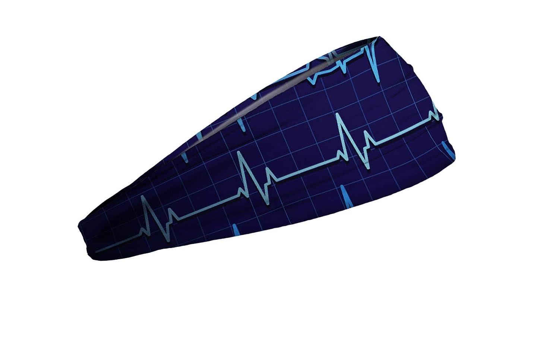 JUNK Brands Unisexs Sinus Rhythm Big Bang Lite Headband Blue
