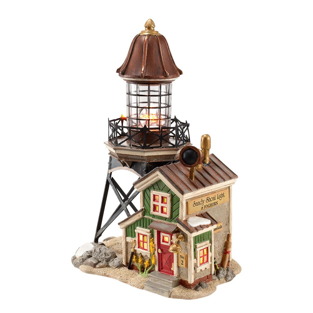 Department 56 New England Village Sandy Shoal Lighthouse Lit House