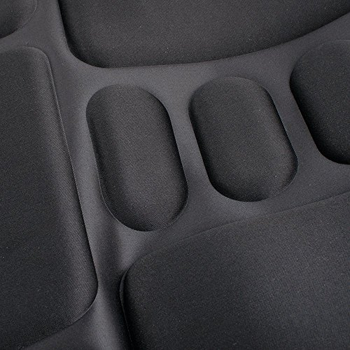 Finlon Vibration Back Massage Seat Massaging Cushion with Heat and Vibrating – Massage Full Back, Neck, Shoulder Thigh (Black)
