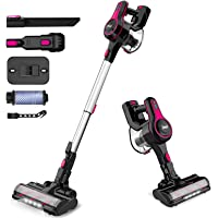 INSE Cordless Vacuum Cleaner, 6 in 1 Powerful Suction Lightweight Stick Vacuum with 2200mAh Rechargable Battery, Up to…