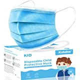 Kids Disposable Face Mask, 50pcs 3 Layers Disposable Protection Safety Masks
