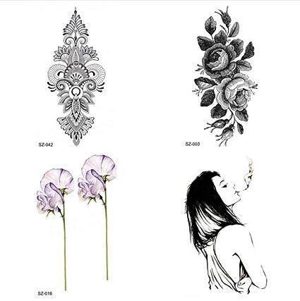 ruofengcp Flash Begonia Flor Tatuaje Mujeres Brazo Oreja Tatuaje ...