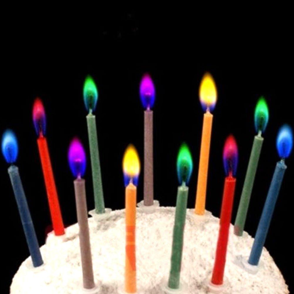 Gulin Velas de Cumpleaños con Llamas de Colores: Amazon.es ...