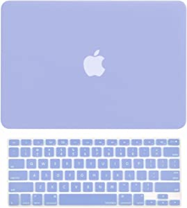 "TOP CASE - 2 in 1 Signature Bundle Rubberized Hard Case and Keyboard Cover ONLY Compatible MacBook Air 13"" A1369 & A1466 (Older Version, Release 2010-2017) - Serenity Blue"