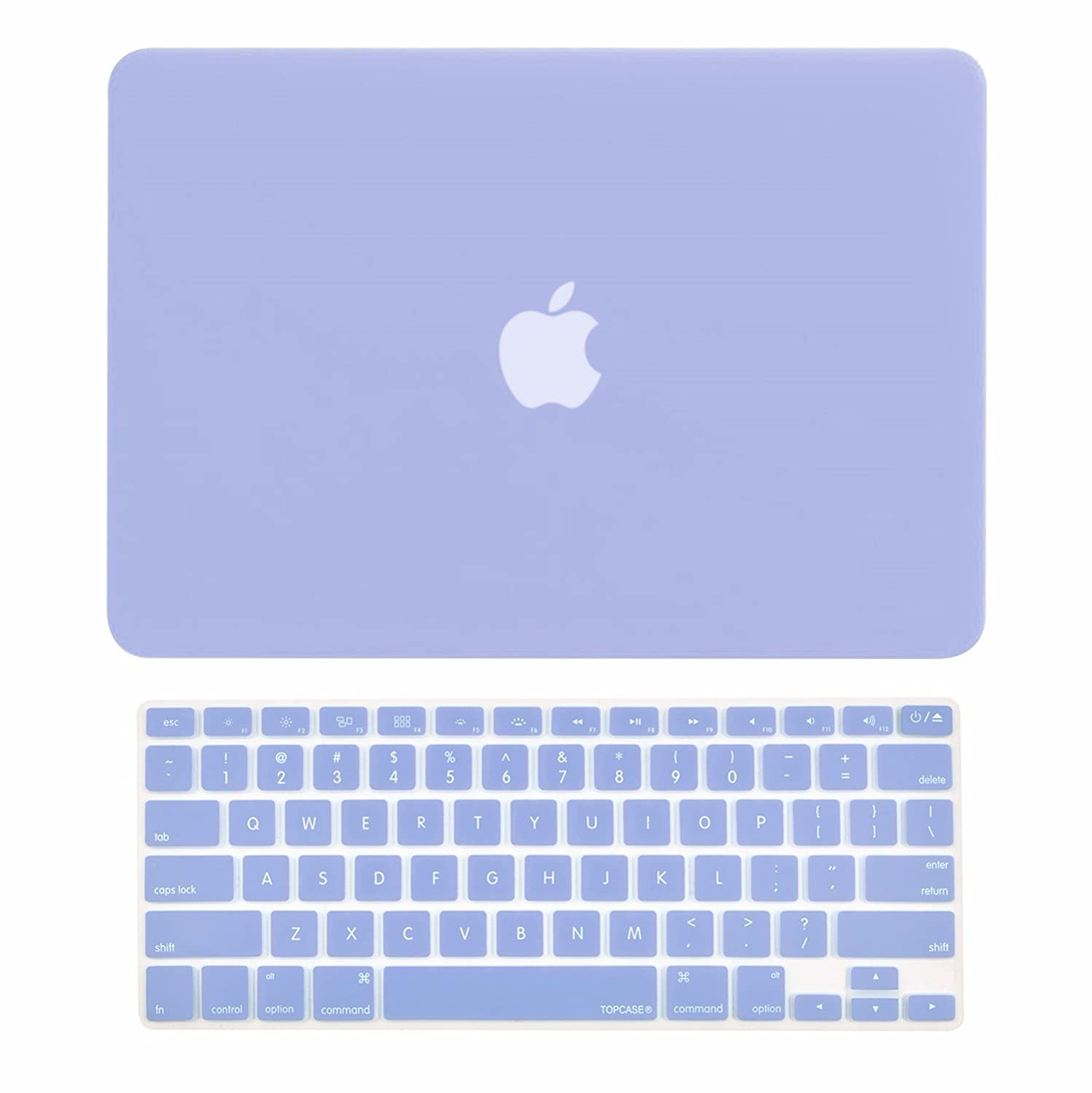 "TOP CASE - 2 in 1 Bundle Deal Rubberized Hard Case Cover and Keyboard Cover Compatible with Apple MacBook Air 13"" (A1369 and A1466) with TOP CASE Mouse Pad - Serenity Blue"