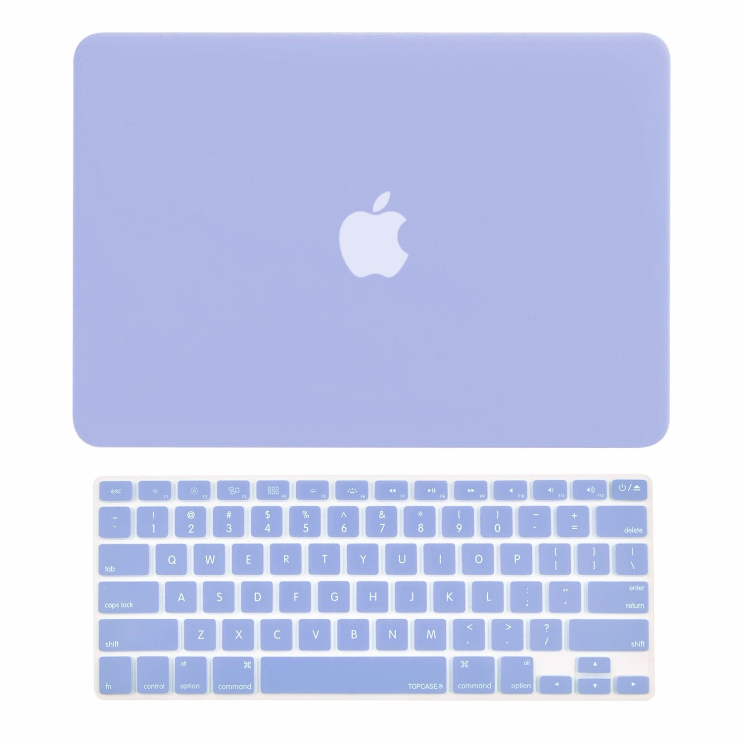 TOP CASE - 2 in 1 Bundle Deal Rubberized Hard Case Cover and Keyboard Cover Compatible with Apple MacBook Air 13'' (A1369 and A1466) with TOP CASE Mouse Pad - Serenity Blue