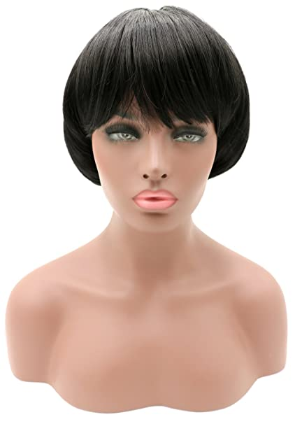 Amazon Newpeck Afro Girls Cosplay Mushroom Wig Short Haircut