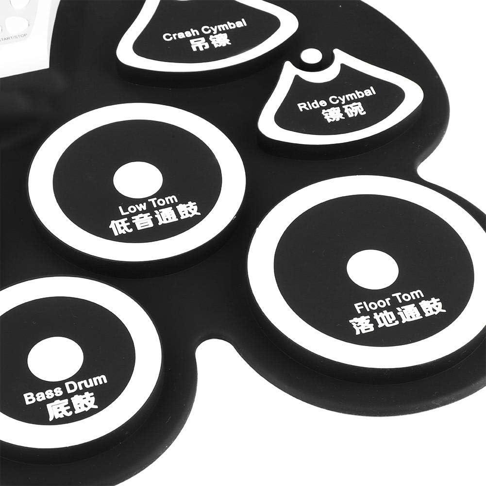 Pad de Batterie Pliable pour d/ébutants Enfants Cadeau Dilwe Portable Batterie /électronique