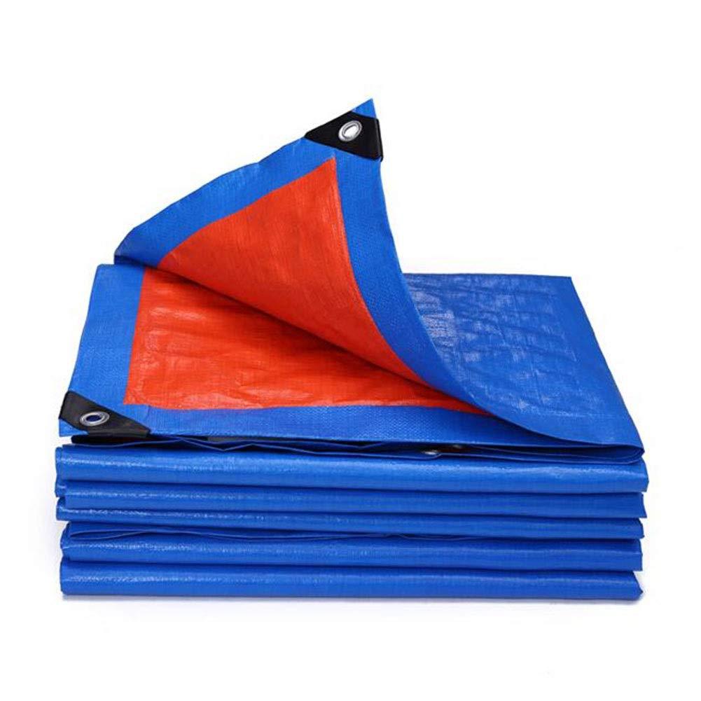 DALL ターポリン 160G /㎡ 防水 レインプルーフ 日焼け止め プラスチックラップアングル アウトドアキャンプ 複数のサイズ (Color : 青, Size : 4×7m) 青 4×7m