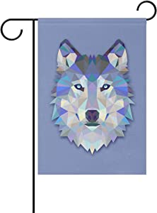 Hokkien Triangle Wolf Garden Flag Banner 12 x 18 Inch Decorative Garden Flag for Outdoor Lawn and Garden Home Décor Double-Sided