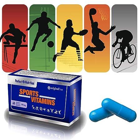 Vitaminas para deportistas multivitaminas en cápsulas para Hombre/Mujer Suplemento vitaminico para evitar la fatiga y mejorar el rendimiento deportivo.