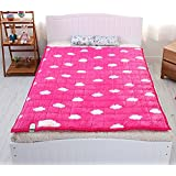 Electric Heated Blankets Microfiber PINK Color Warm Mattress Pad 110v- 240v Combination M : For Super Single or Single Bed Size: 39.5x71inch (100x180cm)