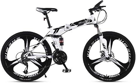 WZB Bicicleta de montaña 21/24/27 Velocidad Marco de Acero 24 Pulgadas Ruedas Plegables de 3 radios Bicicleta Plegable, 6,24 velocidades: Amazon.es: Deportes y aire libre