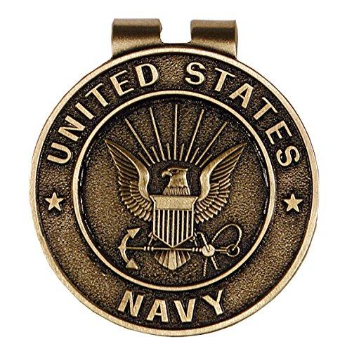 United States Navy Bronze Military Money Clip