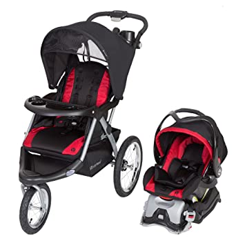 Baby Trend Expedition GLX Jogger Travel System Flex Loc 32lb Car Seat Firestone