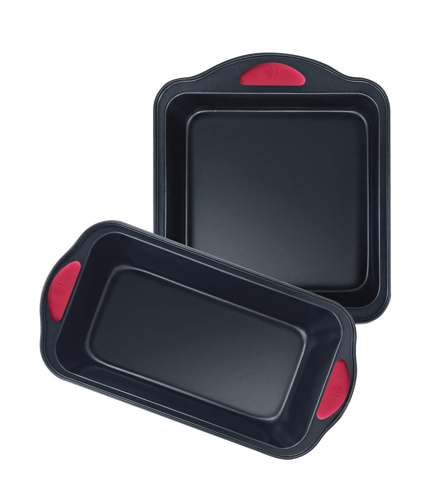 Hell's Kitchen Nonstick 8 Piece Ultimate Bakeware Set - Baking Pans and Baking Sheet in Non Stick with Red Silicone Grips - Bakeware Set includes Cookie, Cake, Muffin, Roasting and More by Hell's Kitchen (Image #8)