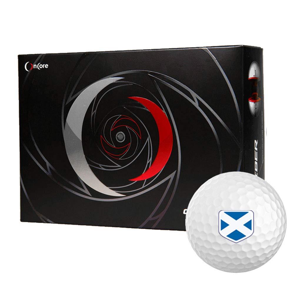 OnCore キャリバー ゴルフボール パーソナライズされたナショナルフラッグ B075XJX362 スコットランド