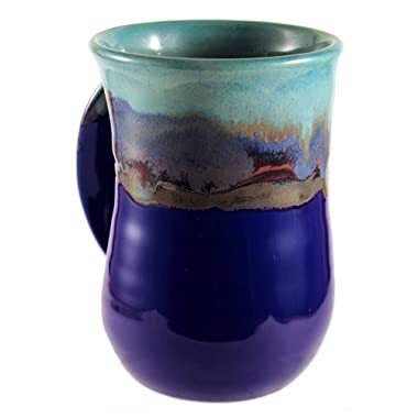 Clay In Motion Handwarmer Mug, Mystic Waters - Left, 14oz