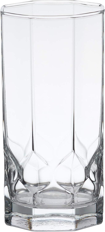 Amazon Basics Terrace Coolers Glass Drinkware Set, 16-Ounce, Set of 6
