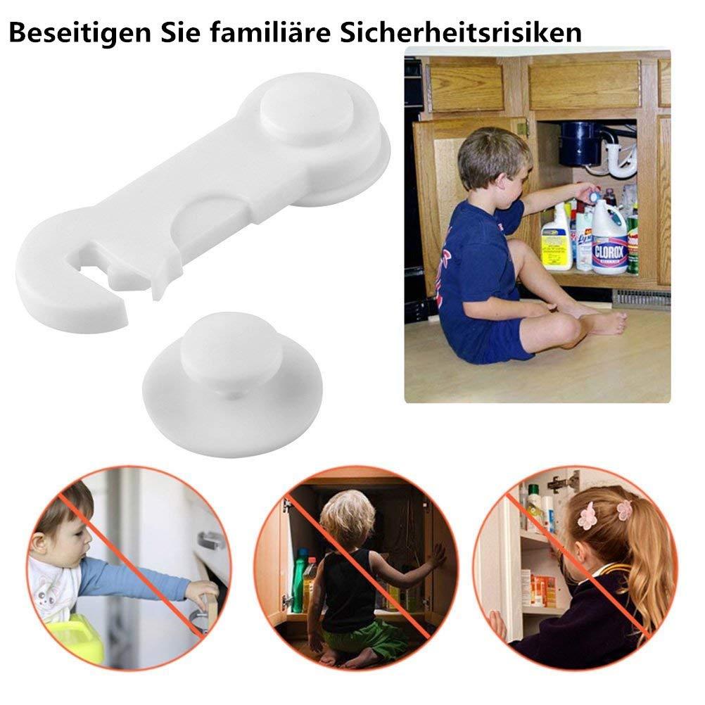 Premium Baby Sicherung 6x Schubladensicherung T/ürsicherung Kindersicherung Schranksicherung von VOARGE