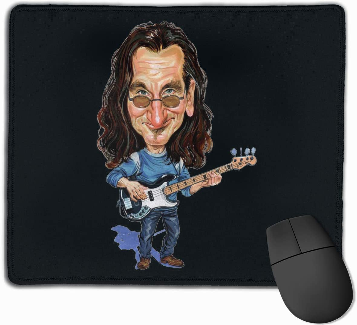 EVE JOHN Polyester Office Locking Mouse Pad Rush Geddy L/_ee