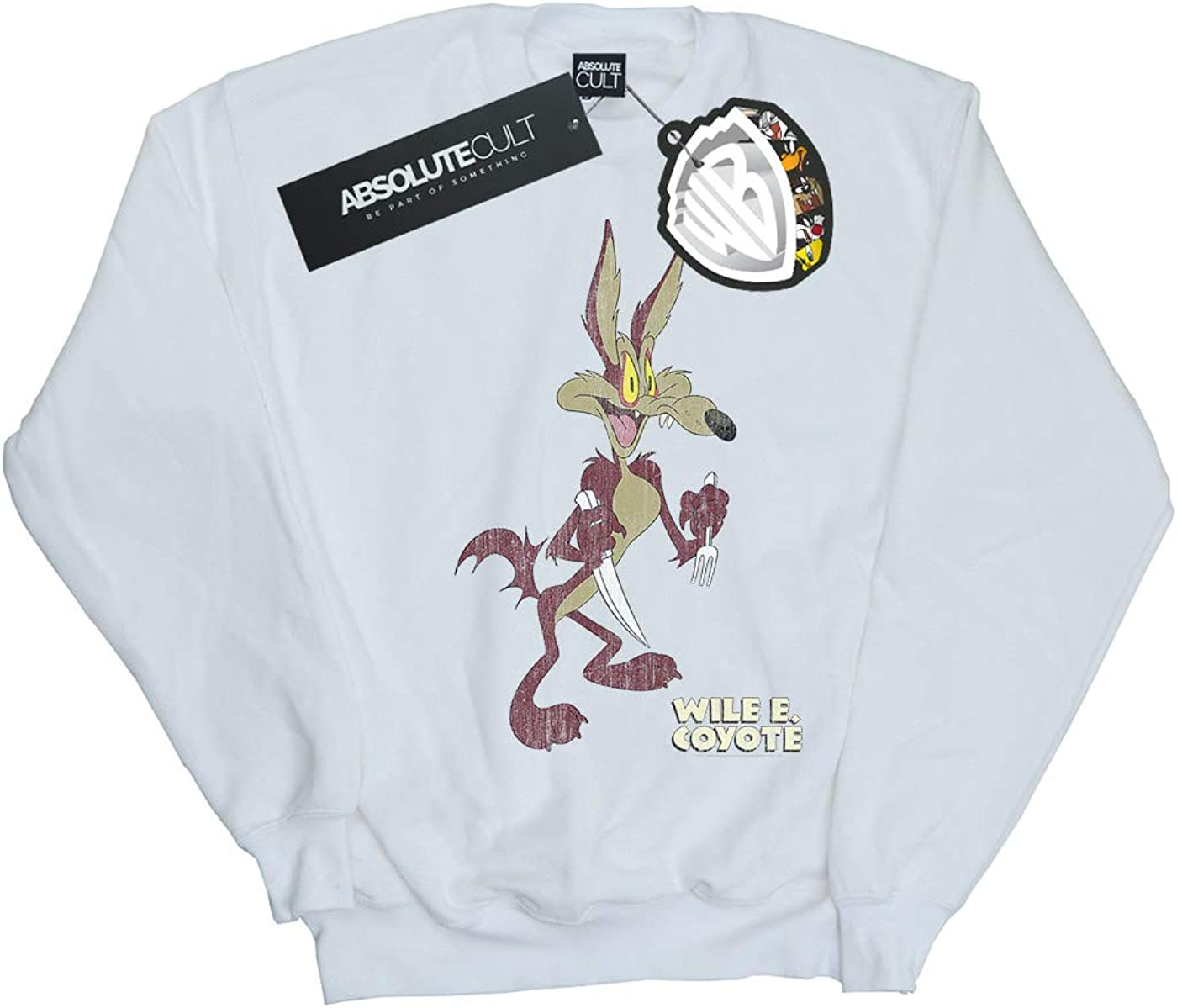 Looney Tunes Girls Wile E Coyote Distressed Sweatshirt