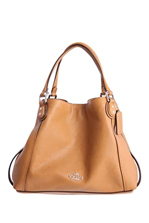 unbeatable price first rate watch EDIE SHOULDER BAG 28 IN BEIGE LEATHER, Womens.