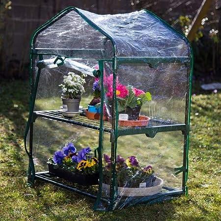 Interougehome Mini Serre De Jardin Botanique 2 Etageres 69x49x95cm Amazon Fr Cuisine Maison
