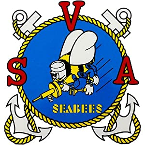 Seabee Veterans Of America Clear Decal from Mitchell Proffitt