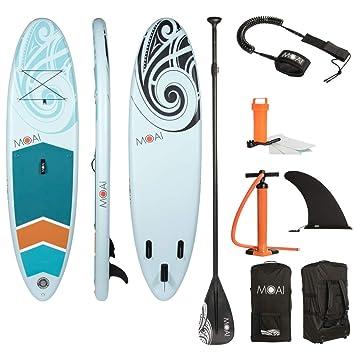 "MOAI Sup Hinchable, Tabla de Paddle Surf 106"" (320x81x15cm) -"