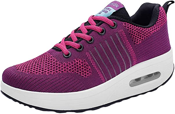 Femmes Running Baskets Femme À Lacets Fitness Gym Sports Travail École Chaussures Taille