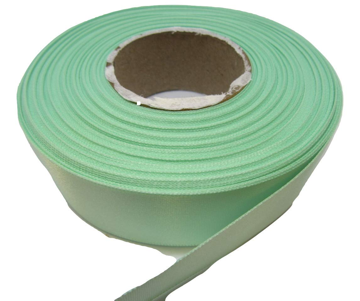 Beautiful Ribbon 1 rotolo di nastro di raso 25 millimetri Verde menta scuro a doppia faccia 25mm 25 mm