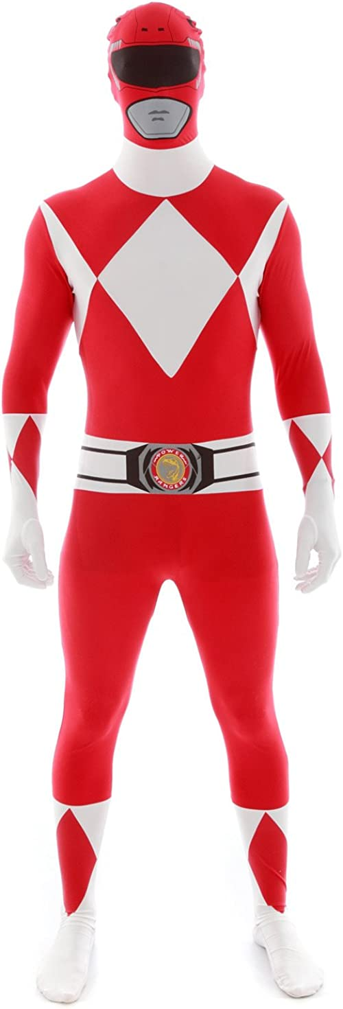 "Official Power Ranger Morphsuit Costume,Red,XX-Large 6'3""-6'9"" (190cm - 206cm)"