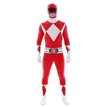 Loftus International Power Rangers Morphsuit Adult Costume Red Large