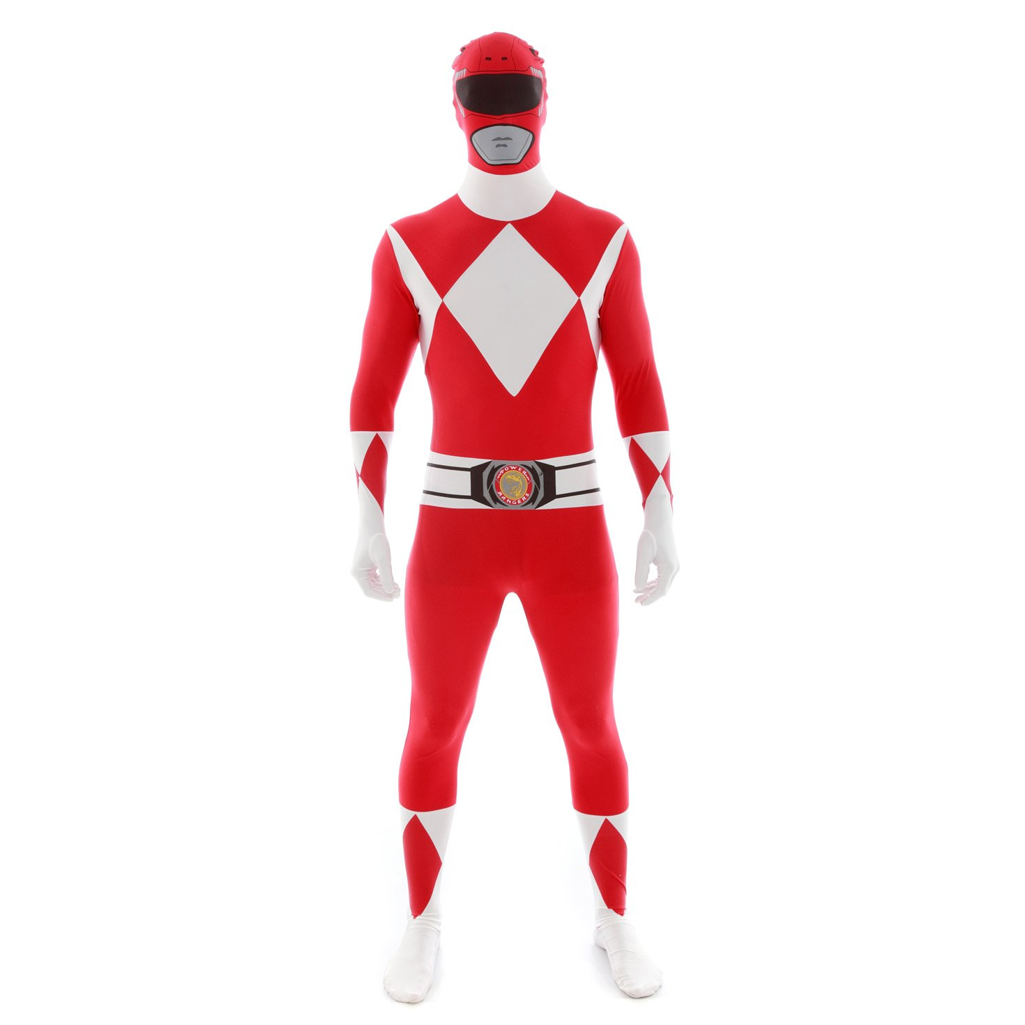 Official Power Ranger Morphsuit Costume,Red,X-Large 5'10-6'3'' (177cm - 190cm)