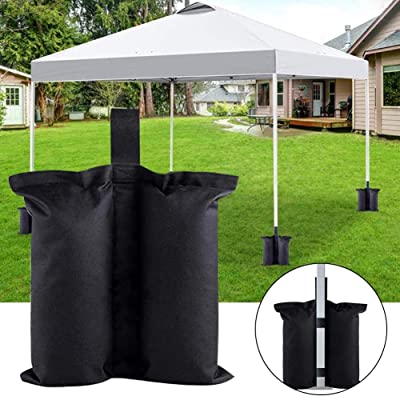 fineshelf Canopy Weight Bags for Pop Up Canopy Tent, Sand Bags for Instant Outdoor Sun Shelter Canopy Legs, 4-Pack (Bags Only, Sand Not Included) Waterproof: Home & Kitchen