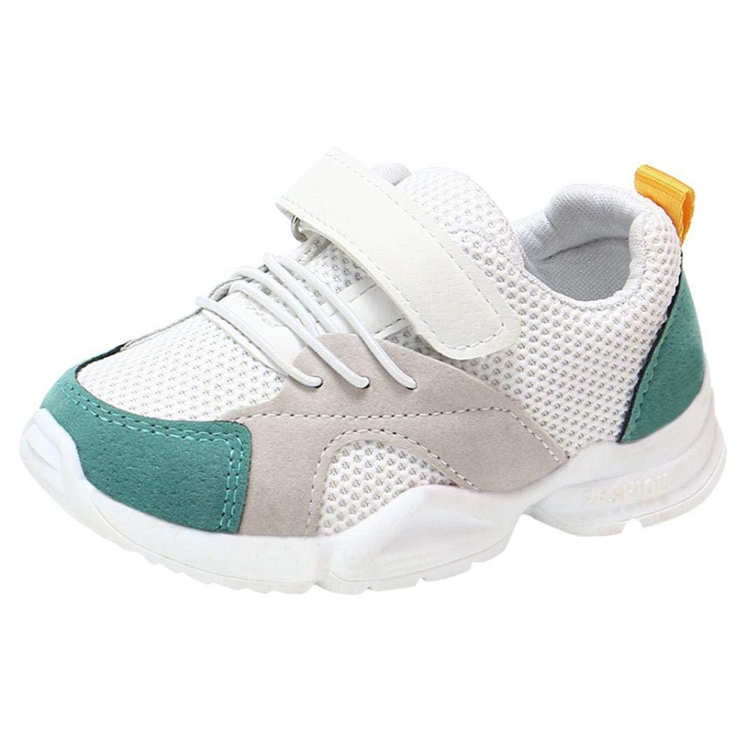 e93a267f13049 ELECTRI Unisexe Baby Boys Girls Petites Chaussures Enfants Maille de  Couleur Assortie Enfants Formateurs Running Sneakers La Boucle du Crochet  Croisé Toutes ...