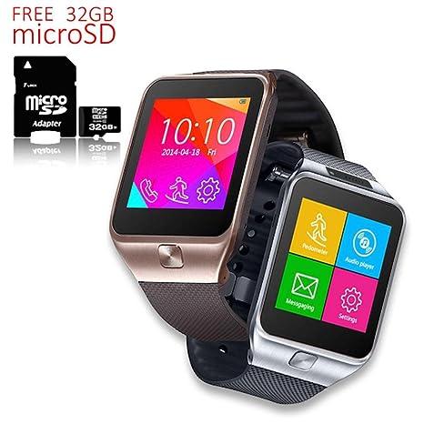 Indigi® Nueva interconvertible reloj inteligente y teléfono Bluetooth + cámara – libre 32 GB SD