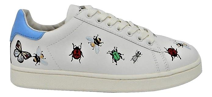 MOA Master of Arts Zapatillas de Piel Para Mujer Blanco Bianco 40 bU1m3wN