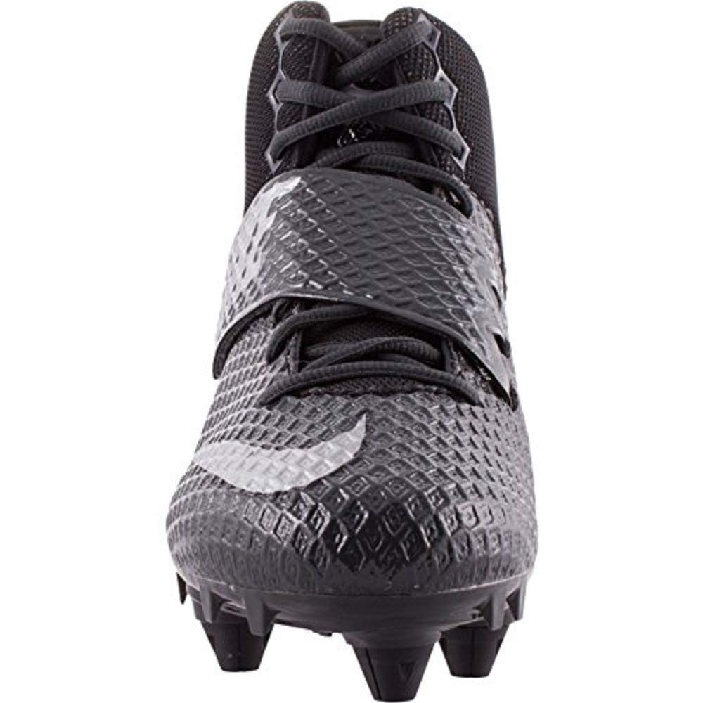 Nike Mens Lunarbeast PRO TD Football Cleats (10, Anthracite / Metallic Silver-black) by Nike (Image #2)