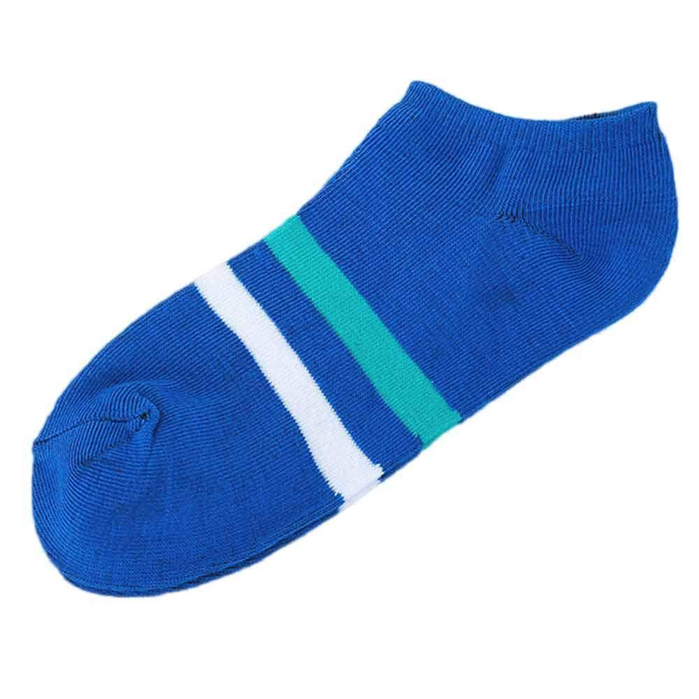 Pausseo Unisex Women Men Striped Shallow Mouth Sweat Comfortable Stripe Cotton Sock Slippers Short Ankle Socks Anti-Slip Coral Stocking Carpet Velvet Bed Sleep Skateboard Comfortable Sock