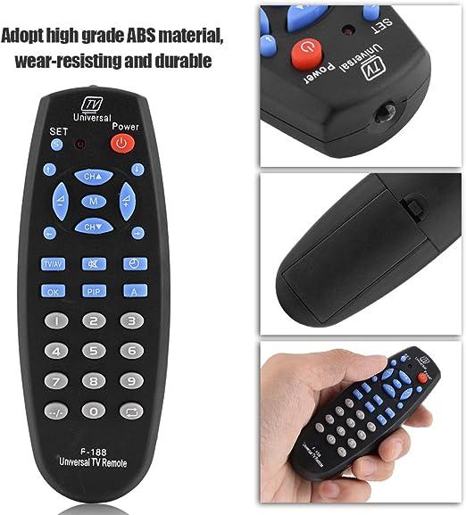 F-188 Smart TV Control Remoto Reemplazo de Control Remoto Universal para Todos los televisores Smart 3D LED LCD(Negro): Amazon.es: Electrónica