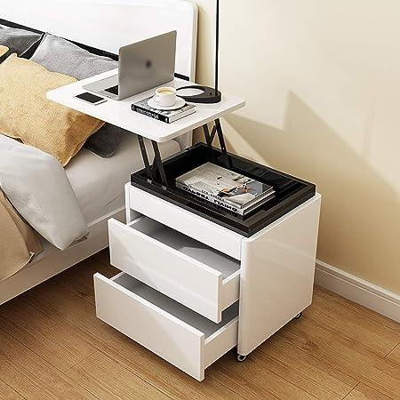ZHAS Table, Pintura de Piano Blanca de Dormitorio multifunción con ...
