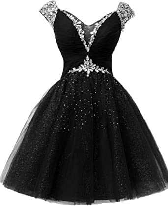 Short A-Line Strapless Lace Homecoming Prom party Dress Beading Sequin ball Gown